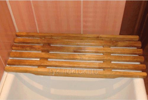 Деревянная решетка на ванну своими руками