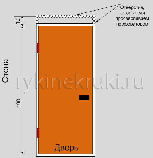 стандартный проем входной двери в панельном доме
