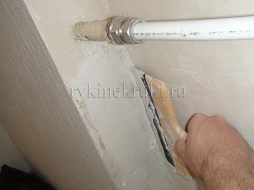 как шпаклевать стену
