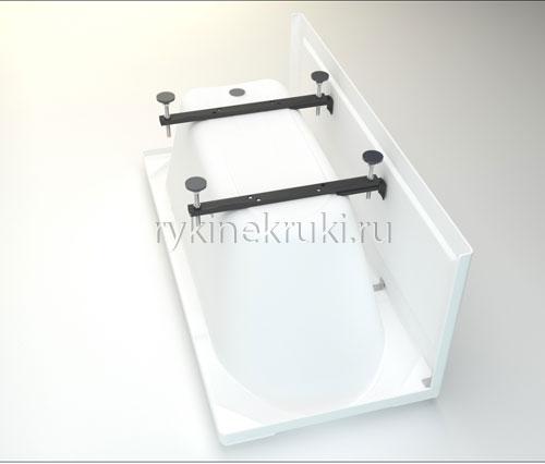 Как установить акриловую ванну