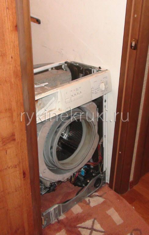 как вытащить стиральную машину