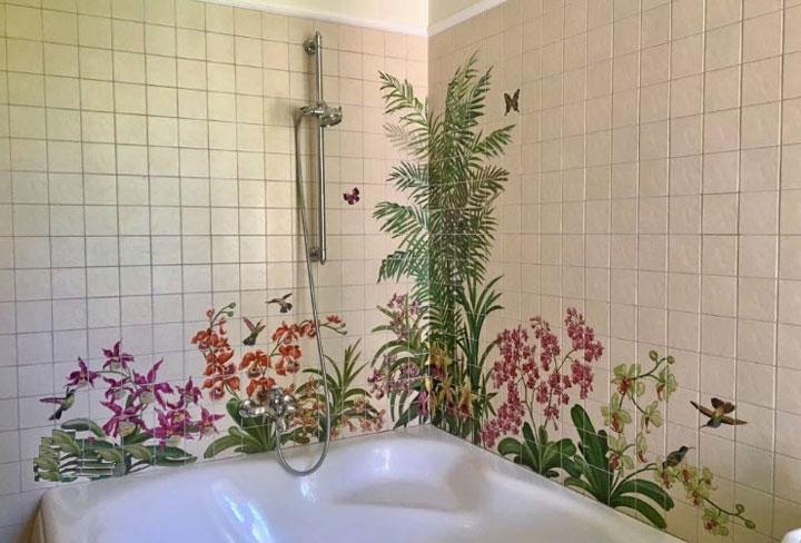 плитка орхидея в интерьере