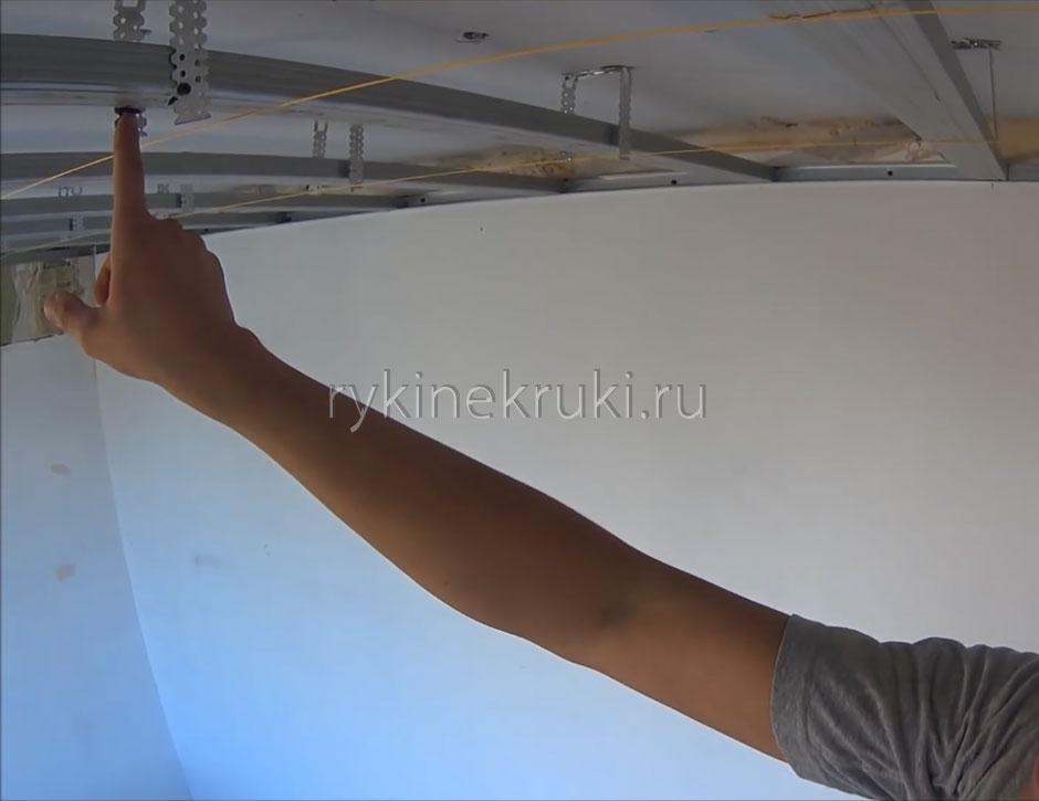 как собирать каркас гипсокартон потолок