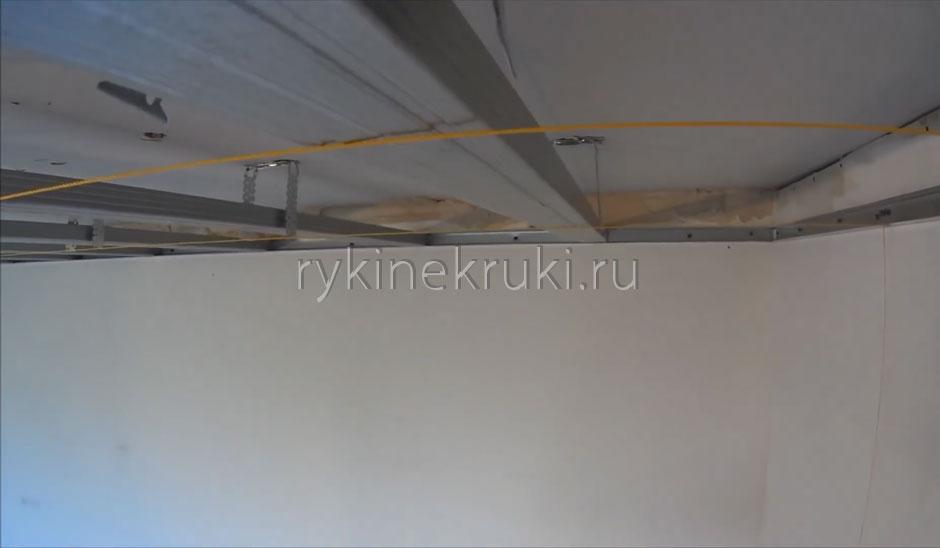 каркас из профилей для гипсокартона на потолок