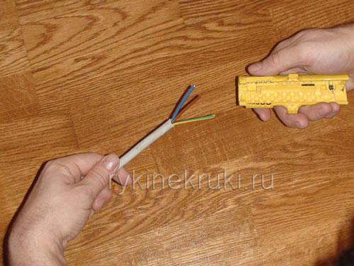 как зачистить провода