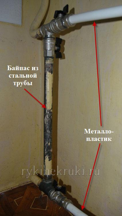 монтаж батарей отопления