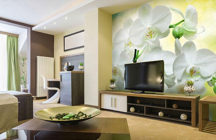 фотообои орхидеи в интерьере