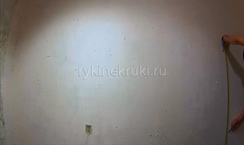 как разметить стену под гипрок