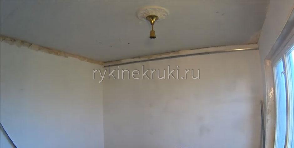 как сделать каркас под гипсокартон на потолке