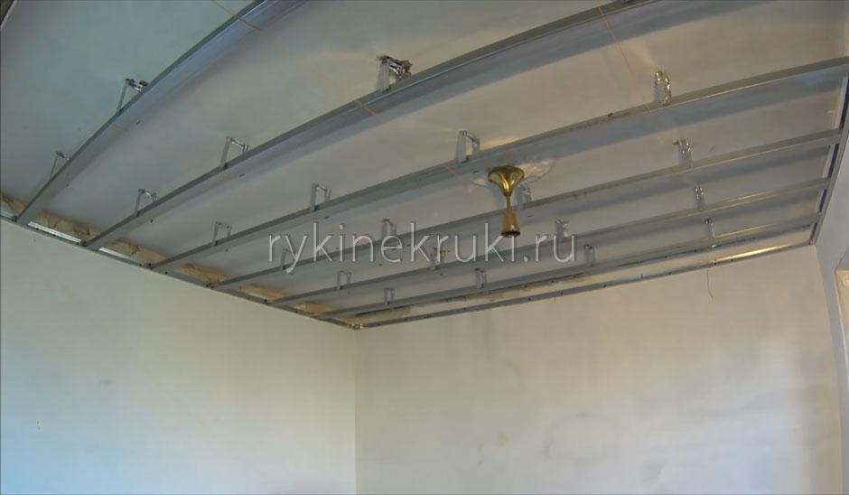 каркас подвесного потолка из гипсокартона