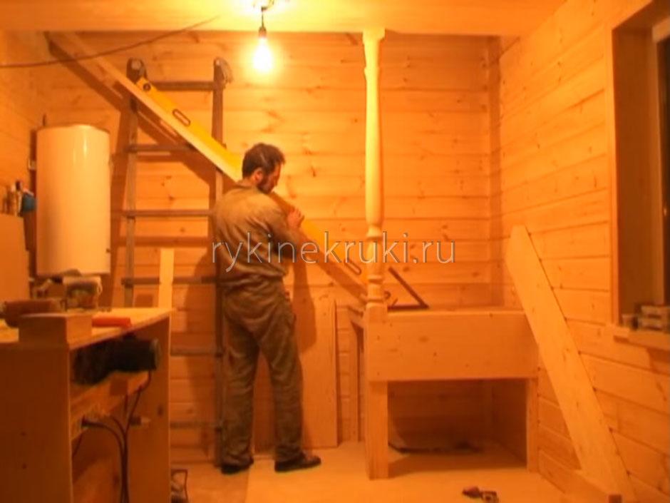 строительство лестницы на второй этаж своими руками
